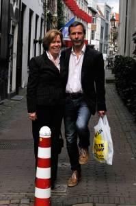 Toos Nijenhuis en Casper Rutten van het Volkstribunaal Der Lage Landen