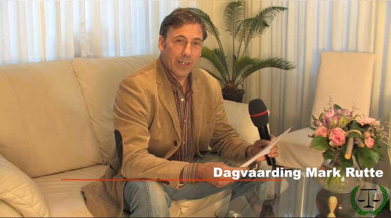 Openbare dagvaarding Mark Rutte