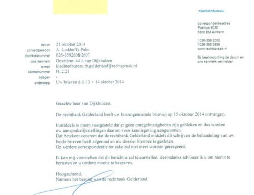 In de Zaak tegen de Staat: brieven van het ministerie